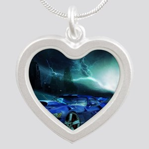FASTER THAN LIGHTENING Silver Heart Necklace