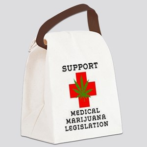 medical marijuana legalization Canvas Lunch Bag