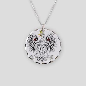 Polish eagle Necklace Circle Charm
