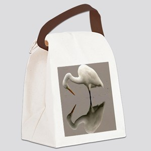 Stork Reflection Canvas Lunch Bag