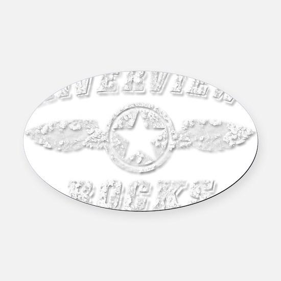 RIVERVIEW ROCKS Oval Car Magnet