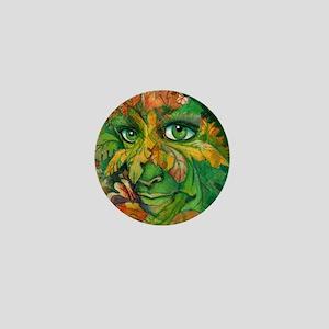 Green Woman Mini Button