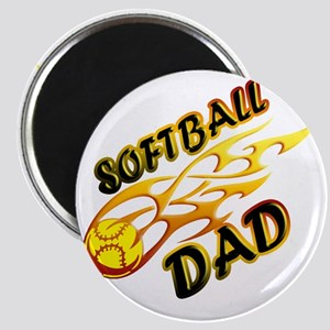 Softball Dad (flame) copy Magnet