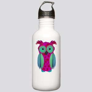 pink flower owl Stainless Water Bottle 1.0L