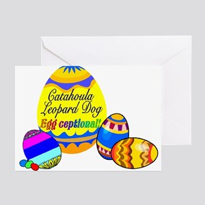 Easter Catahoula Leopard Dog Greeting Cards (Packa