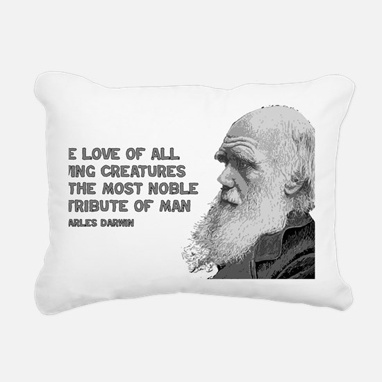 darwin_pic_quote_text Rectangular Canvas Pillow