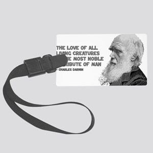 darwin_pic_quote_text Large Luggage Tag