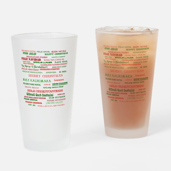 Many Merry Christmases Drinking Glass