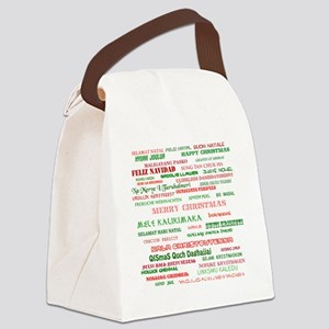 Many Merry Christmases Canvas Lunch Bag