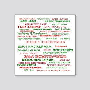 """Many Merry Christmases Square Sticker 3"""" x 3"""""""