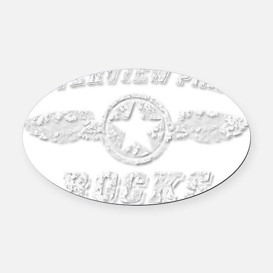 RIVERVIEW PARK ROCKS Oval Car Magnet