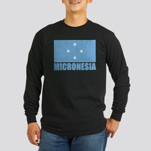 Micronesia Flag Long Sleeve Dark T-Shirt