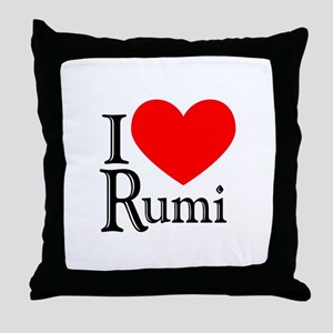 I Love Rumi Throw Pillow