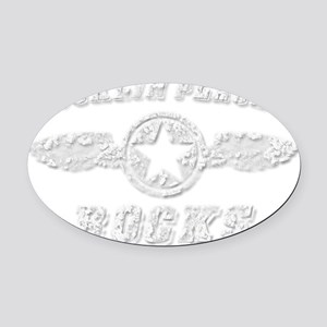 ROCKLIN PLACER ROCKS Oval Car Magnet