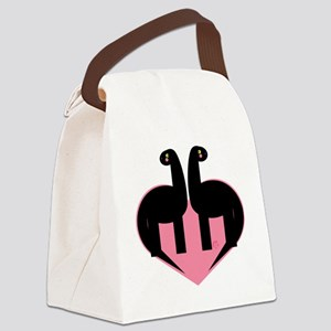 Dino Love Canvas Lunch Bag