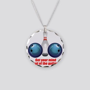 Get your Mind out of the Gut Necklace Circle Charm