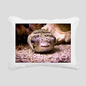Blowfish Rectangular Canvas Pillow