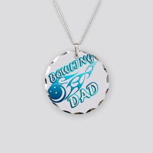 Bowling Dad (flame) copy Necklace Circle Charm