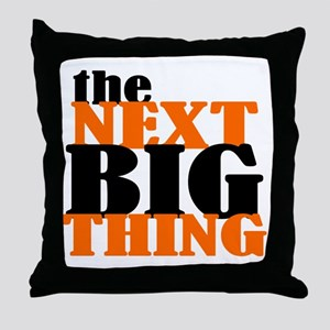 The Next Big Thing (orange Throw Pillow