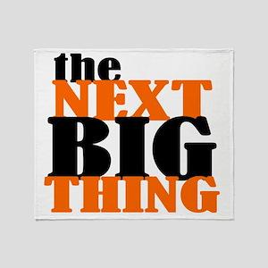 The Next Big Thing (orange Throw Blanket