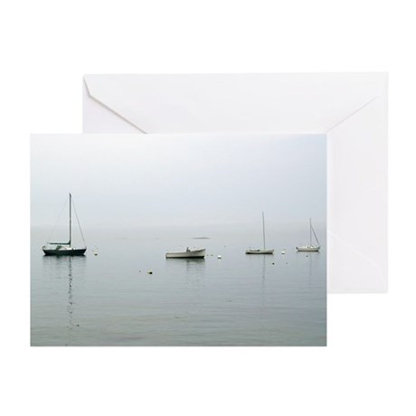 Bar Harbor Boats Greeting Cards (Pk of 10)