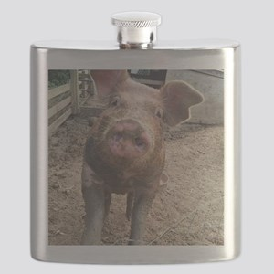 Funny Muddy Red Pig Flask