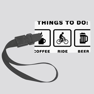 Bicycle-Rider-ABH1 Large Luggage Tag