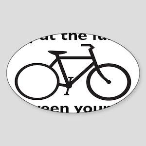 bikerectangle Sticker (Oval)