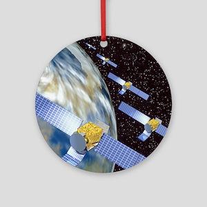 Communication satellites Round Ornament