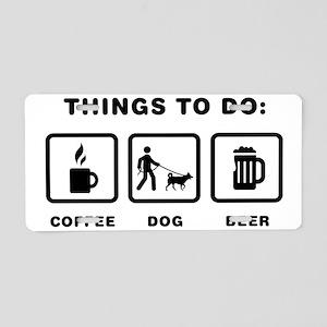 Dog-Walking-ABH1 Aluminum License Plate