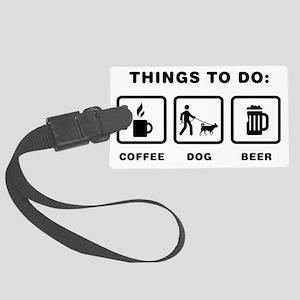 Dog-Walking-ABH1 Large Luggage Tag