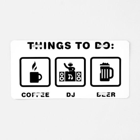 DJ-ABH1 Aluminum License Plate