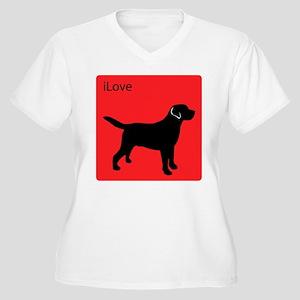 iLove Labs Women's Plus Size V-Neck T-Shirt