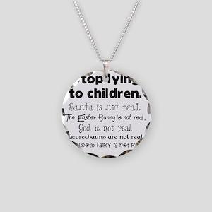 Stop LyingLayers Necklace Circle Charm