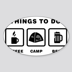 Camping-ABH1 Sticker (Oval)