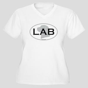 LAB Women's Plus Size V-Neck T-Shirt