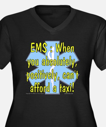 EMS - Can't Afford a Taxi! Women's Plus Size V-Nec