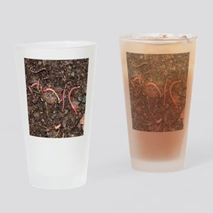 Compost worms Drinking Glass