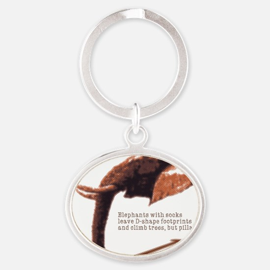 orng_d-shape Oval Keychain