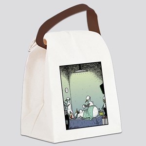 Snow Woman Boob job Canvas Lunch Bag