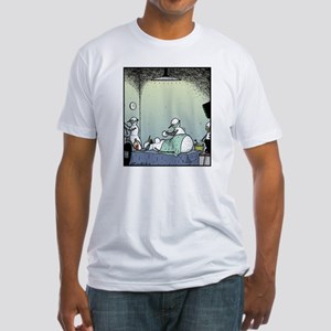 Snow Woman Boob job Fitted T-Shirt