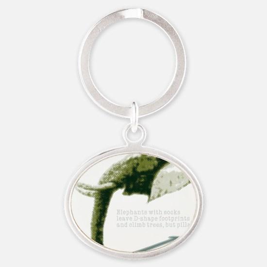 frst_d-shape Oval Keychain