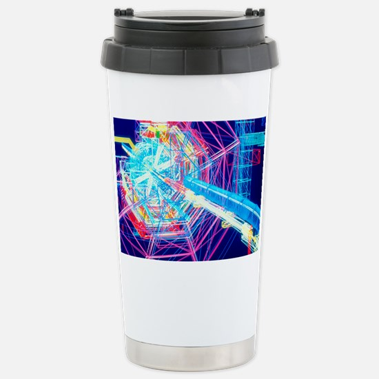Computer artwork of ATL Stainless Steel Travel Mug