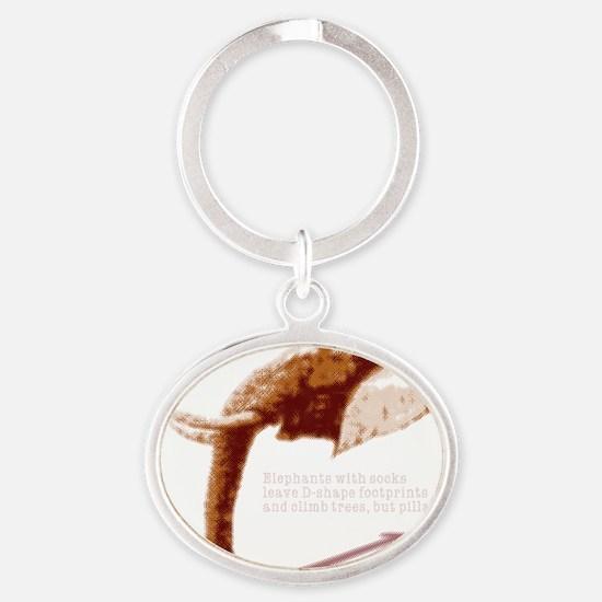 crn_d-shape Oval Keychain