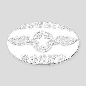 KNOWLTON ROCKS Oval Car Magnet