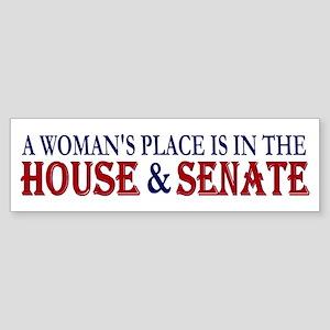 Woman's Place Bumper Sticker