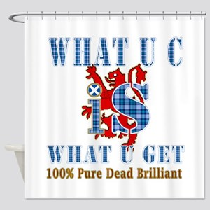 100% pure dead brilliant Scottish Shower Curtain