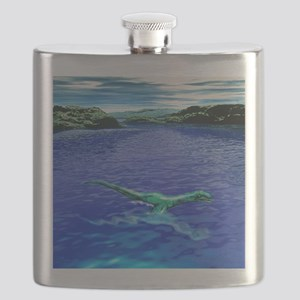 Computer illustration of the Loch Ness Monst Flask