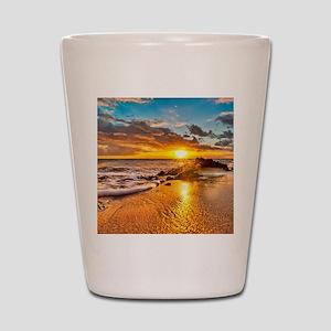 Sunrise Beach Shot Glass