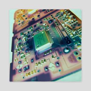 Computer circuit board Queen Duvet
